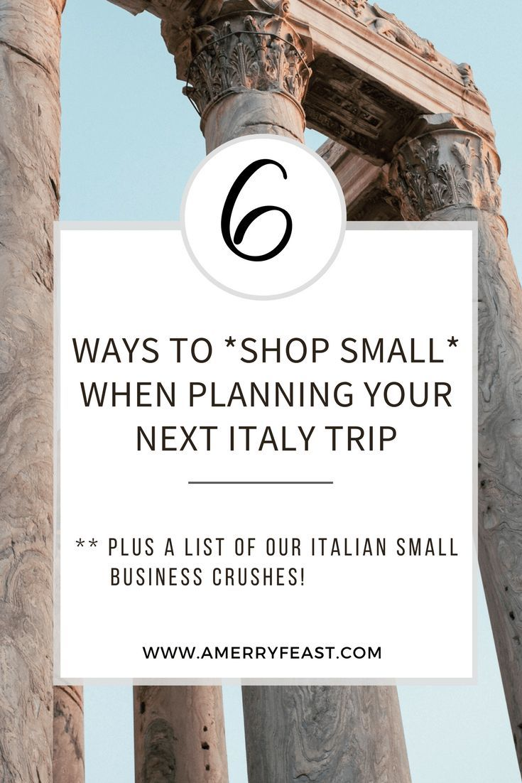 Italy Travel // How to shop small on your next Italy trip (our tips & ideas) Plus our favorite small business crushes in Italy right now!