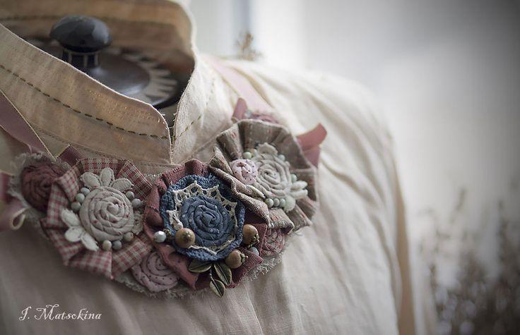 Купить Колье Теплые Края - украшения ручной работы, украшение на шею, колье, бохо