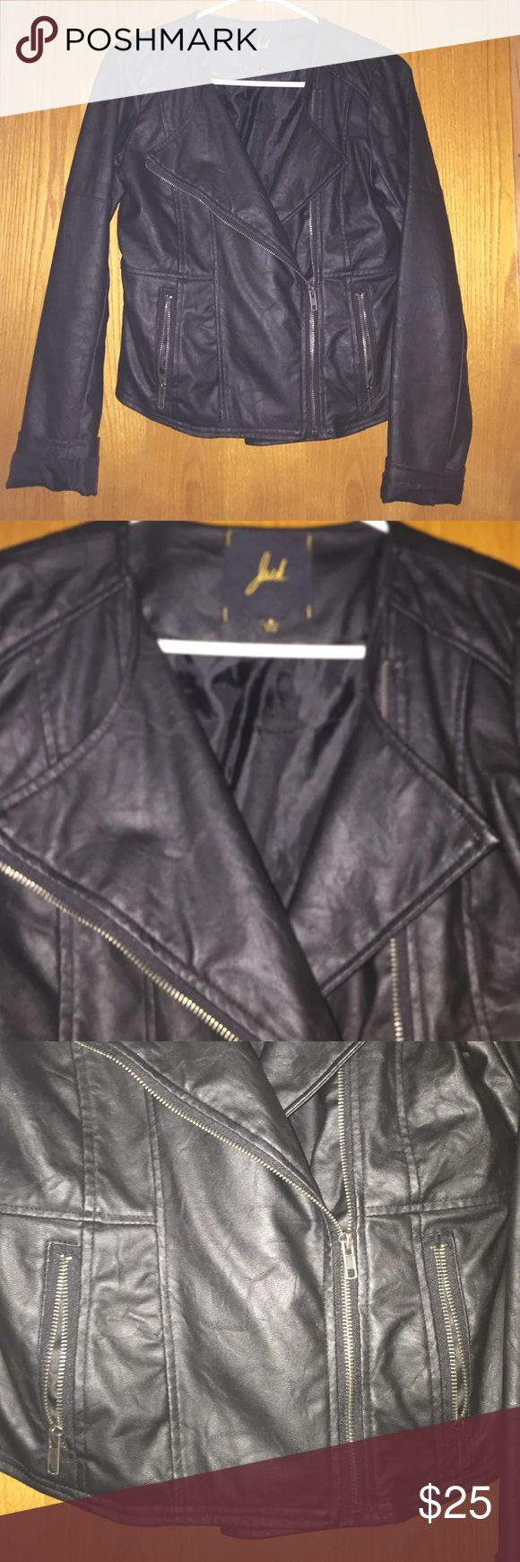 Biker leather jacket Black biker leather jacket Jack and Jones Jackets & Coats Blazers