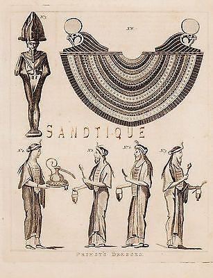 CALMET'S BIBLE DICTIONARY - PRIEST''S DRESSES - Copper Engraving -1801