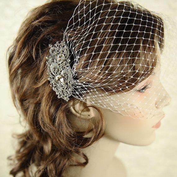 CORNELIA, Vintage Inspired Bridal Hair Comb, Victorian Art Deco Rhinestone Wedding Hair Comb, Wedding Bridal Hair Accessories, Bridal Comb. $66.00, via Etsy.