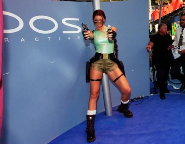 Rhona Mitra as Lara Croft   Rhona Mitra - 1997 - Lara Croft - the changing faces of the Tomb ...