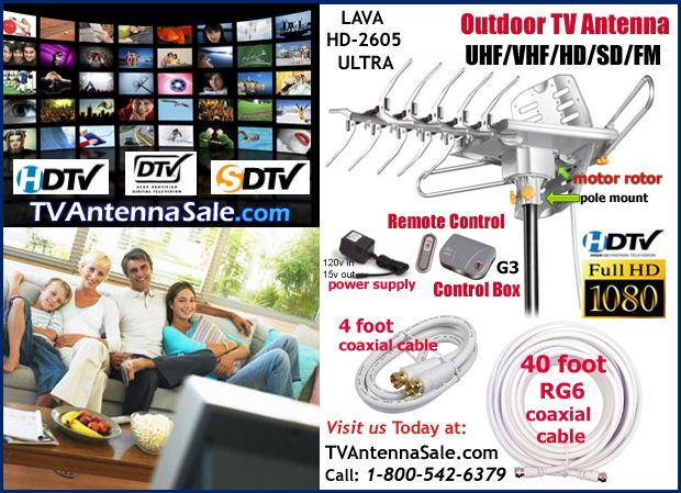 LAVA HD-2605 ULTRA Outdoor TV Antenna List Price: $119.95 Our Price: $69.95 Sale Price: $69.95 Savings: $50.00  - 90 Day Money Back Guarant...