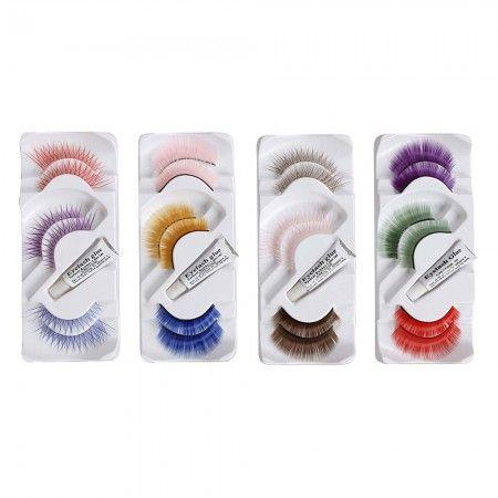 12 pair various colors false eyelashes beauty