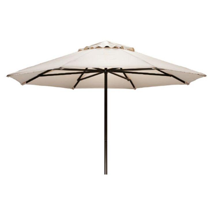 Telescope Casual 11 ft. Sunbrella Powder Coated Aluminum Round Commercial Umbrella Linen Sesame - 65J86401