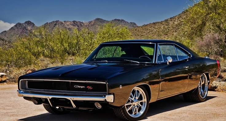 Black Dodge Charger RT HD Wallpaper