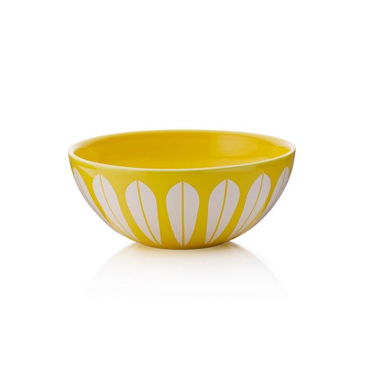 Lucie Kaas Lotus skål gul 12cm
