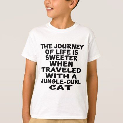 #Traveled With Jungle-curl Cat T-Shirt - #cool #kids #shirts #child #children #toddler #toddlers #kidsfashion