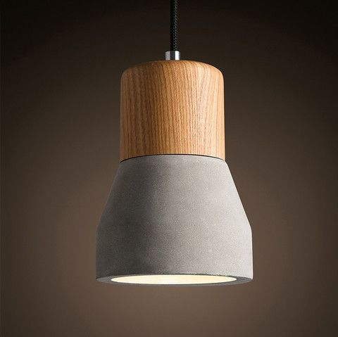 Concrete Wooden Stockholm Minimalist Pendant Light – Tudo And Co