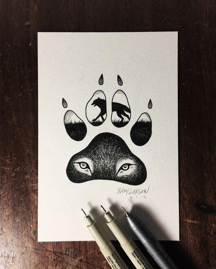 #art #illustration #wolf