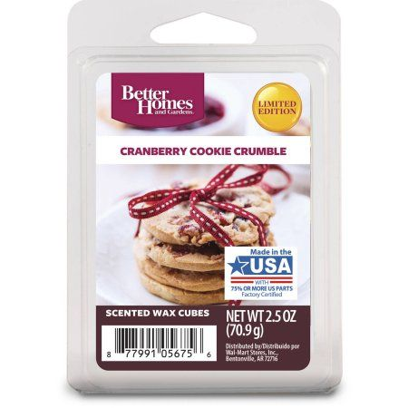 Better Homes And Gardens Scented Wax Cubes Cranberry Cookie Crumble Throughout Design Decorating