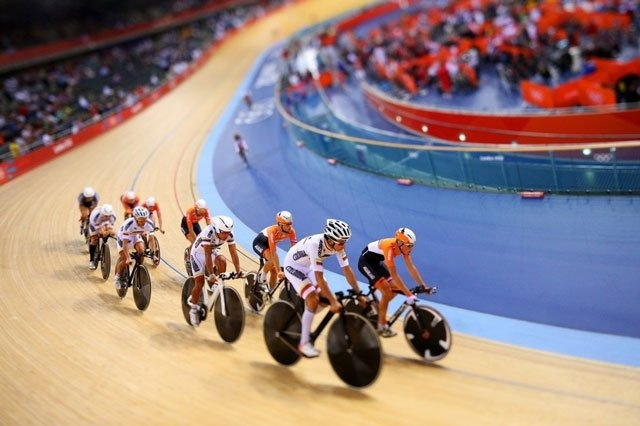 tilt-shift photo from the London 2012 Summer Olympics by Cameron Spencer