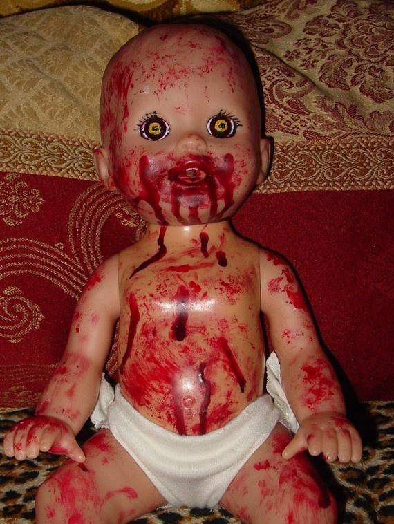HANDMADE HALLOWEEN creepie baby BLOODY Grace by FunkycostumefindZ, $44.00