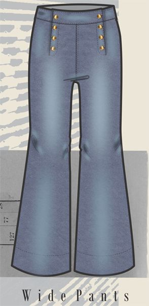 Croquis Fits Femininos - Inverno 2017 - Flare Wide Pants