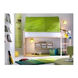 KURA Reversible bed - IKEA $199. It's 78 3/8 inches long I like the tent but not the color