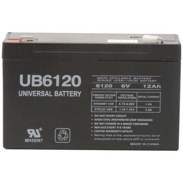Sealed Lead Acid Batteries (6V; 12Ah; .250 Tab Terminals; UB6120F2) - UPG - 85995/D5778