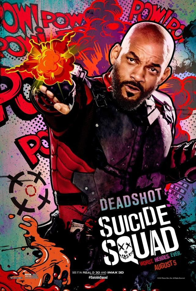 <i>Suicide Squad</i> Deadshot Comic Poster