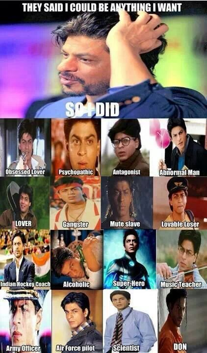 lmao shahrukh khan did it all