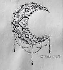 Resultado de imagen para diseños de lunas en pinterest