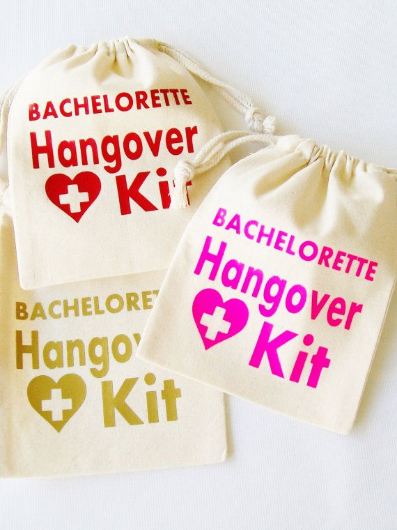 Bachelorette Hangover Kit CustomORDER   by LuckyGirlHairTies
