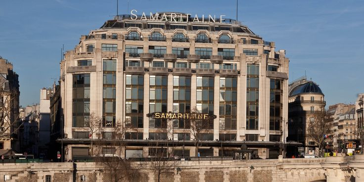 Le grand magasin de La Samaritaine, face au Pont Neuf à Paris.