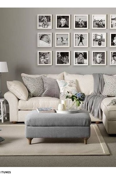 Great Classic Home Updates: Ottomans. Grey Walls Living RoomGrey ... Part 17