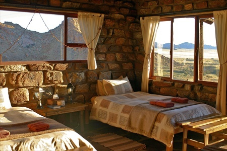 The interior of a bungalow at Eagle's Nest Chalets.