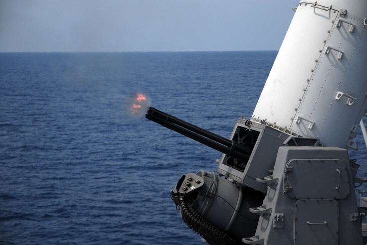 20mm Phalanx muzzle velocity is 3650 feet per second, about 5 times the speed of sound.