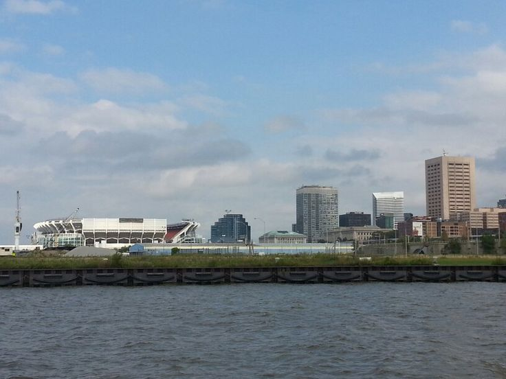 Downtown from across the river @ Wendy Park   Cleveland Browns Stadium (left)   Cleveland, Ohio   Pinterest   Cleveland, Ohio and Rivers
