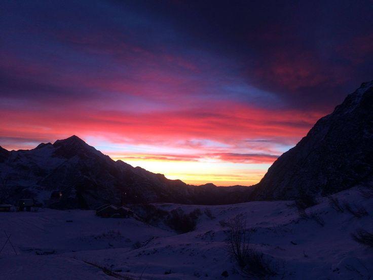 Alagna Valsesia, sunset. #Alps #Montagna #sunset #ItalianAlps, snow