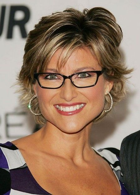 Cute Short Layered Haircut Hairstyles and Glasses Pinterest
