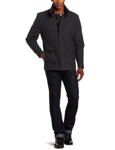 Special Offers  IZOD Men's Quilted Coat, Charcoal, X-Large