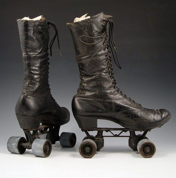 "walzerjahrhundert: ""Victorian High Top Roller Skates "" For the witch on the go"