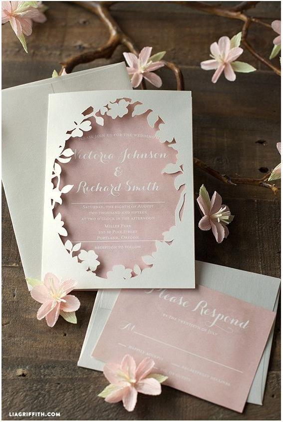 Pink laser cut wedding invitation inspiration