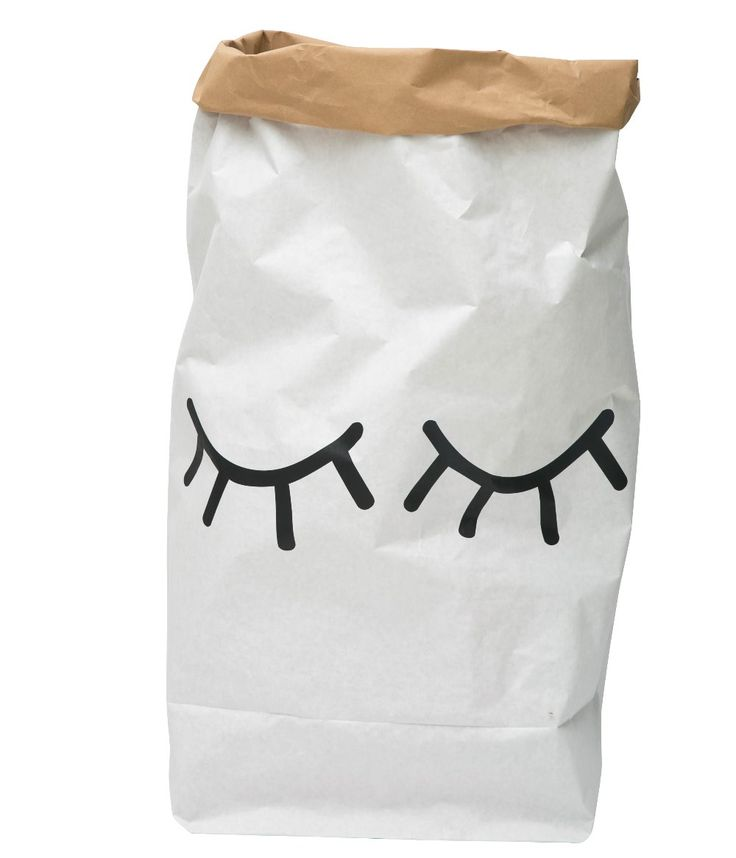 Paper Bag Closed Eye