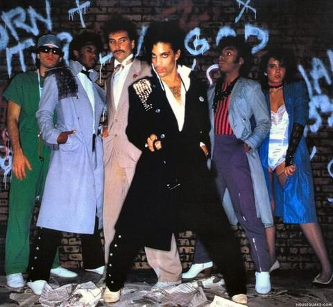 Classic Prince | 1981 Controversy - L-R Dr. Fink (Matt Fink),  Brown Mark, Bobby Z, Prince, Dez Dickerson, Lisa Coleman