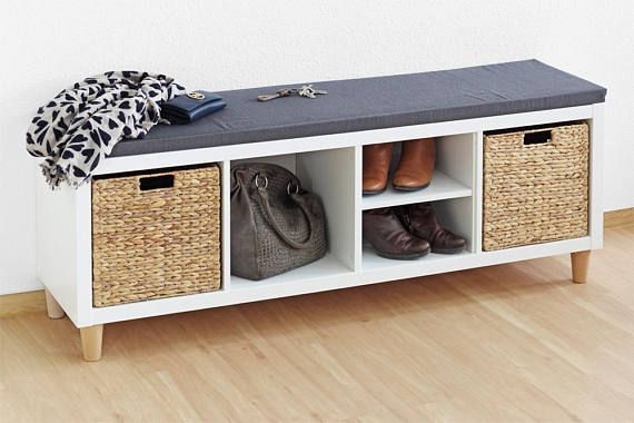 Seat pad for KALLAX shelves With our padded pad DRUFF you make a nice bench from your flat Kallax – so your sideboard becomes a Sitboard! This is practical and space-saving because you now have storage and seating options in one. The pad makes itself super on a Kallax as a shoe
