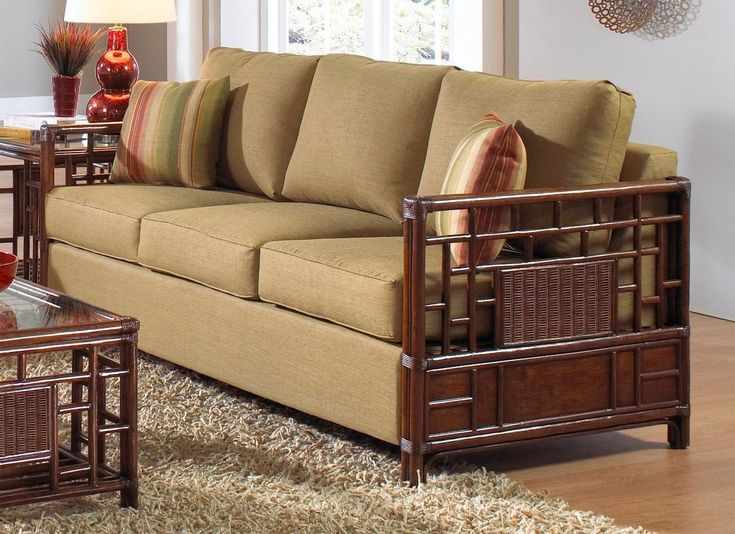 Rattan Sleeper Sofa And Loveseat