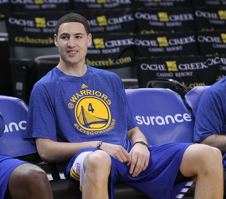 Klay Thompson sporting Brandon Rush's shooting shirt
