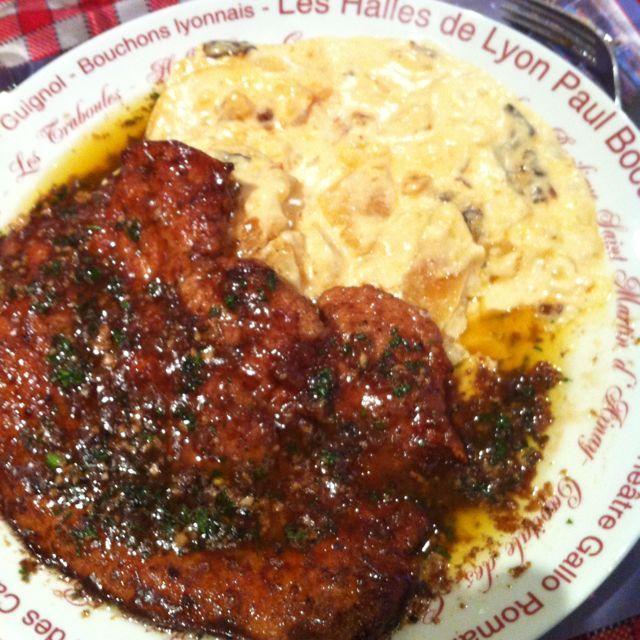 Foie de veau a la lyonnaise Resto Halles (Chez Jacky) Lyon par Vincent - Food Reporter