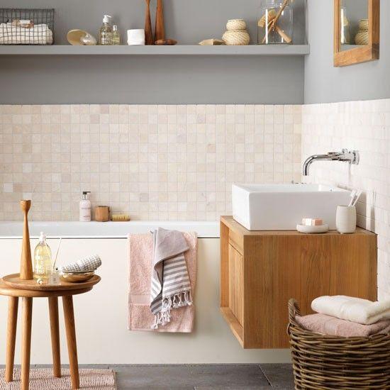 Baños Estilo Ajedrez:Beach Style Bathroom Tile
