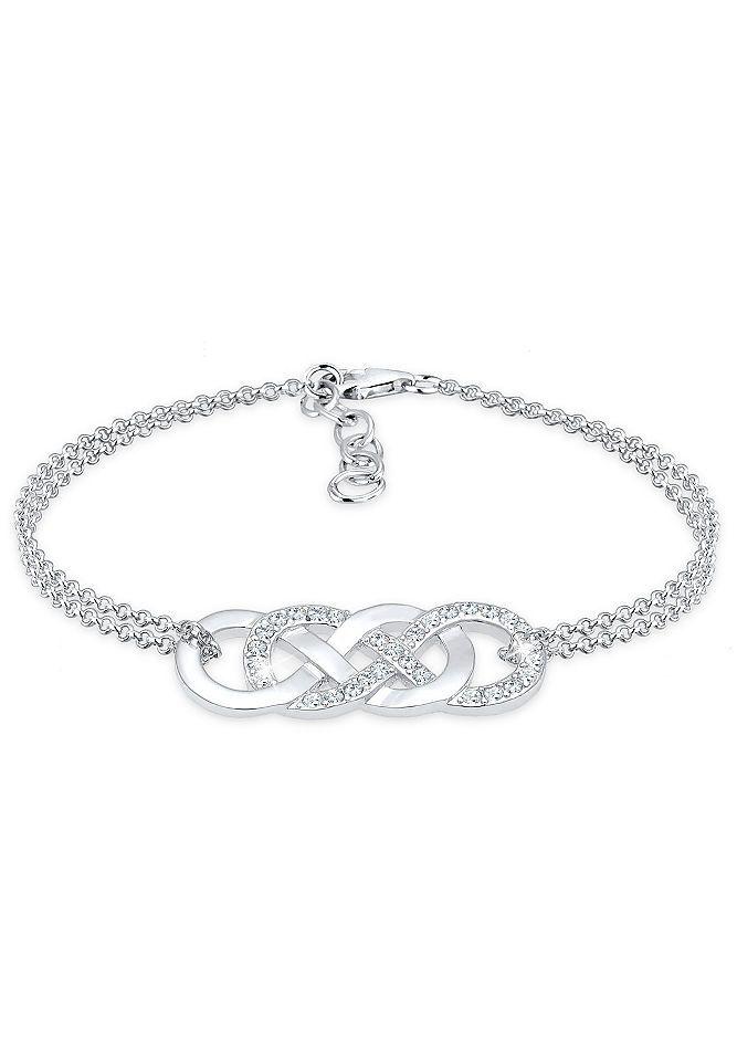 Elli Armband Infinity Liebe Swarovski Kristalle 925 Silber Online Kaufen Baur Armband Frauen Silber Armband Armband Infinity