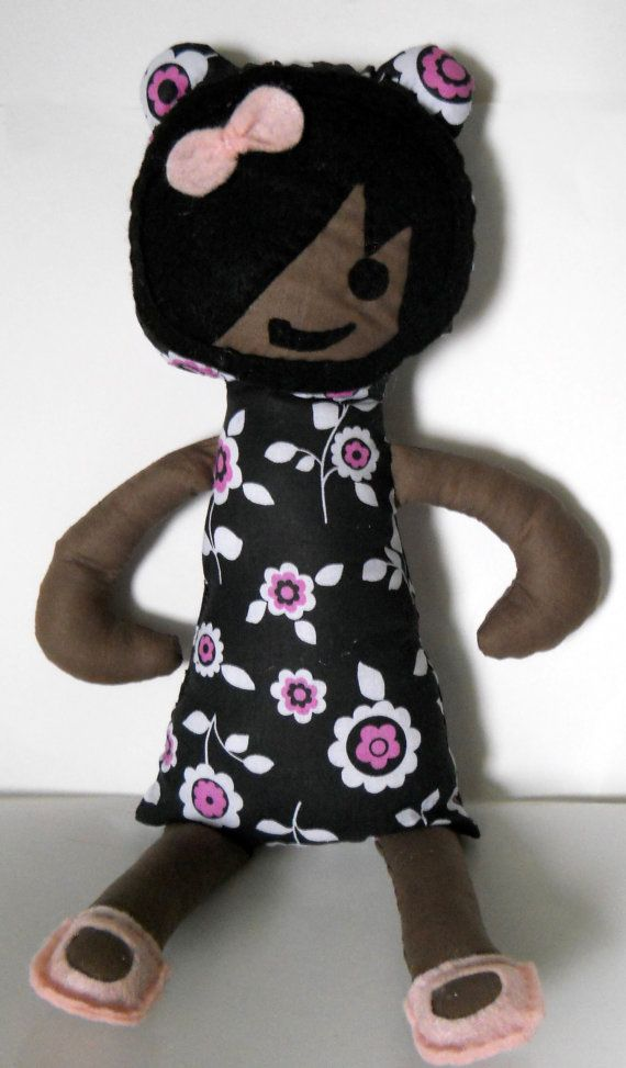 Hey, I found this really awesome Etsy listing at https://www.etsy.com/listing/88933219/fabric-doll-floral-dress-softie-stuffie
