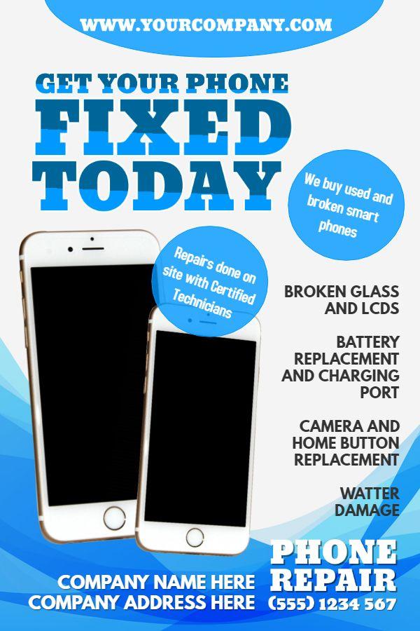 Mobile phone repair shop flyer advertisement template | Phone Repair
