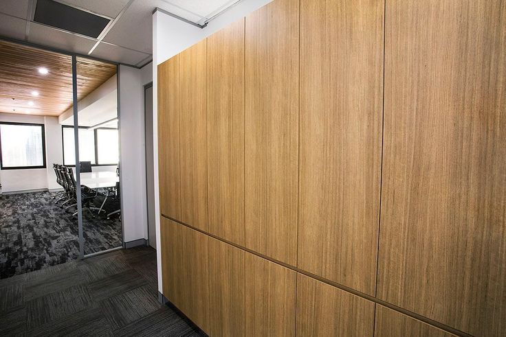 Capital Bluestone | Timber Paneling What do you think of the ever growing trend- Timber?  We think it has a warming effect in an office space and looks luxurious. . . . . #timber #timberpaneling #timberstorage #officefitout #commercialfitout #officeinteriors #commercialinteriors #officedesign #commercialdesign #interiors #design #fitoutsydney #interiordesign #styling