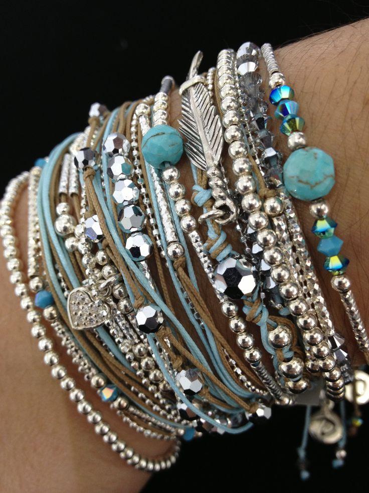 Bracelet plume! Rock! Love! Doriane-Bijoux