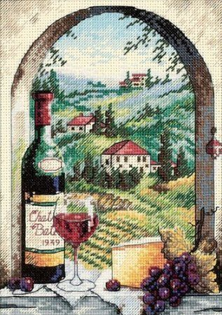 Amazon.com: Dimensions Needlecrafts Counted Cross Stitch, Dreaming Of Tuscany: Arts, Crafts & Sewing