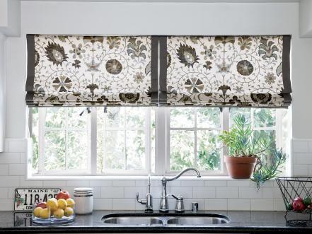 10 stylish kitchen window treatment ideas - Kitchen Window Valances
