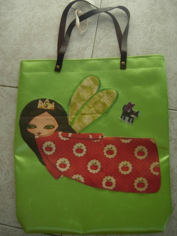 The Supergirl Summer colorfulgreen waterproof art bag by eltsamp, $78.00