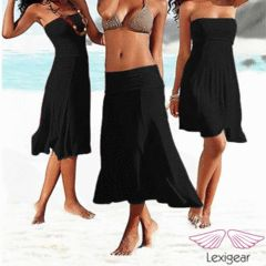 Convertible Dress | Skirt Size S/M Black (Size 8-10) wear in various ways! for R80.00